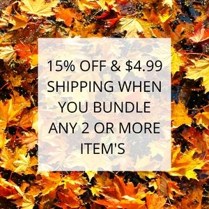 15% OFF & $4.99 Shipping On Your Bundle